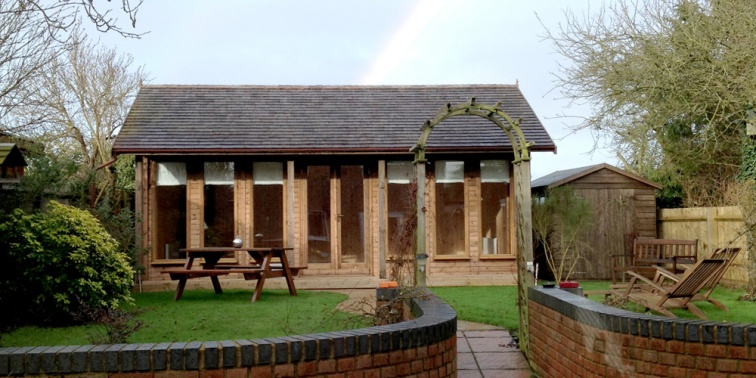 Yoga shed at Akeley